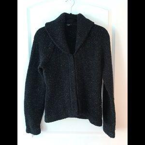 J Crew Hand Knit Sweater w metallic threading